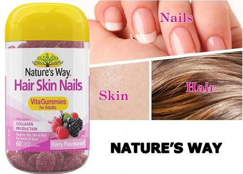 Kẹo dẻo Natures Way Hair Skin Nail có tốt không-1