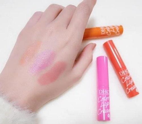 Son dưỡng DHC Color Lip Cream review-3