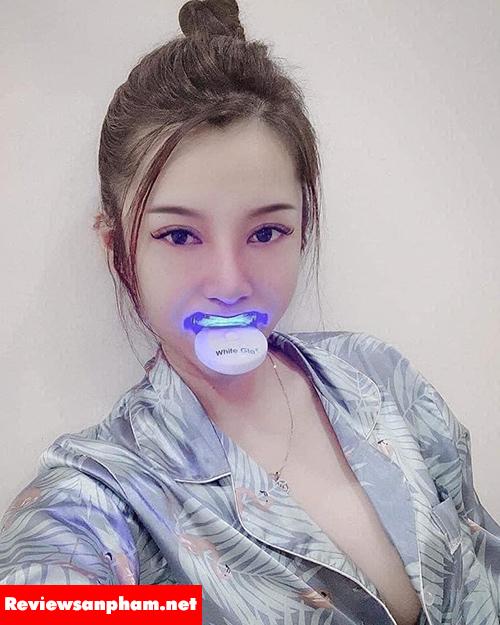Máy làm trắng răng White Glo Accelerator review có tốt không!