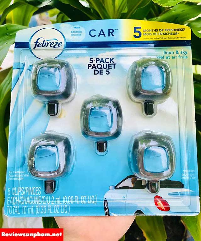 Nước hoa xe hơi Febreze Car review1