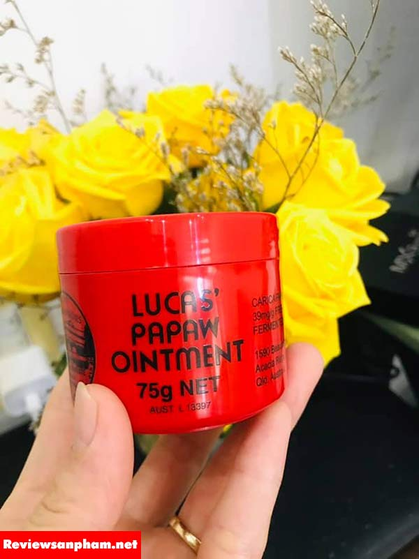 Review kem đa năng lucas papaw ointment đu đủ 75g